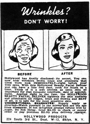 vintage beauty ad
