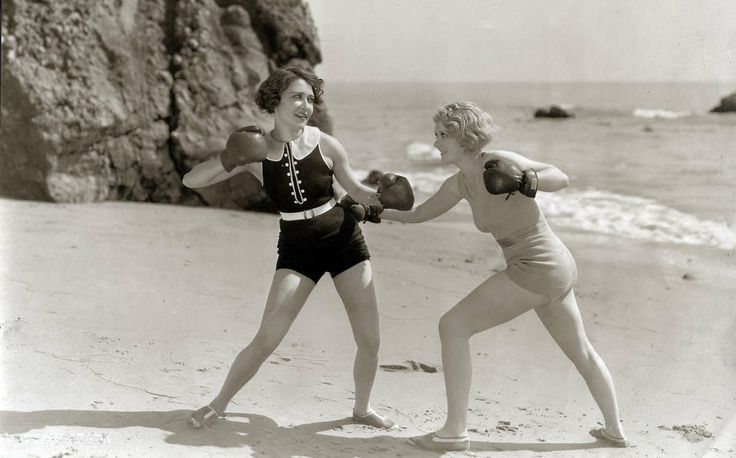 woman fight vintage