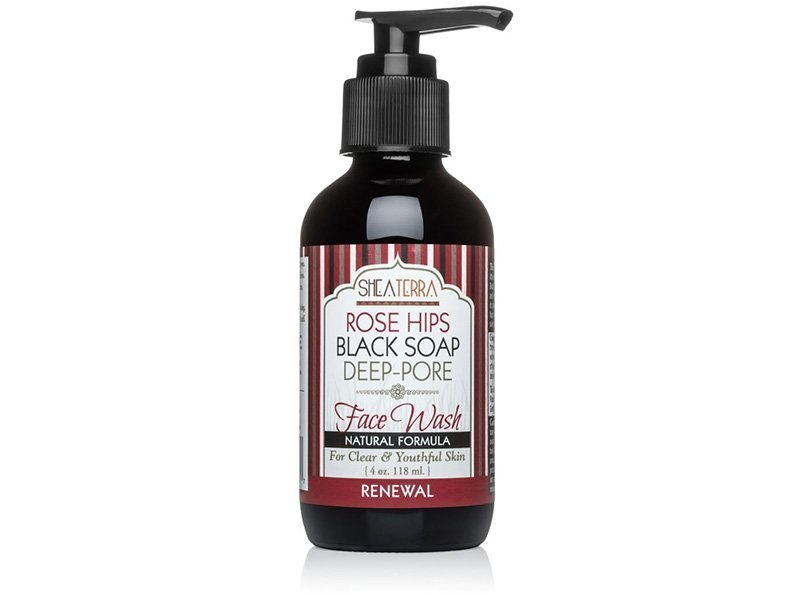 Shea Terra Rose Hips Black Soap Face Wash