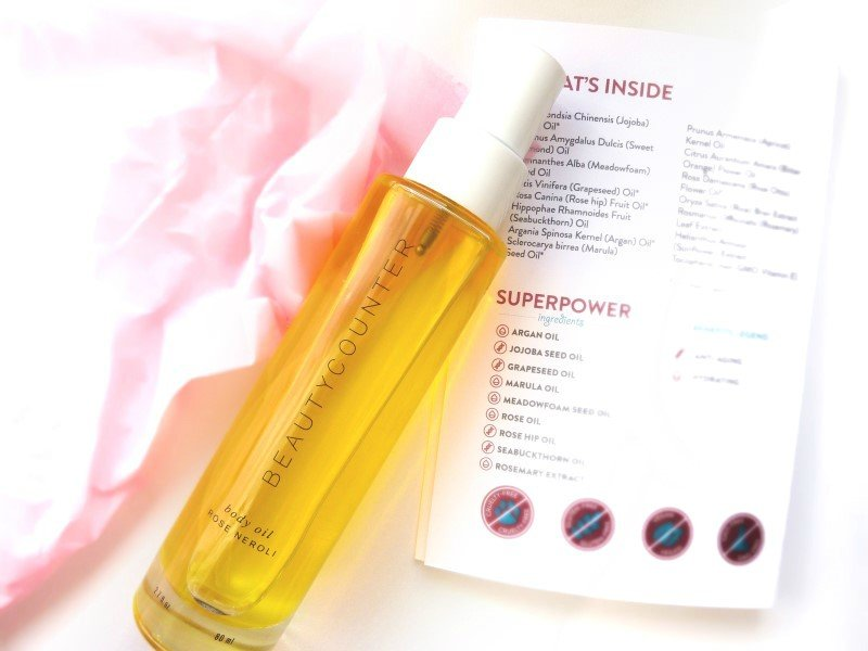 beautycounter-rose neroli body oil