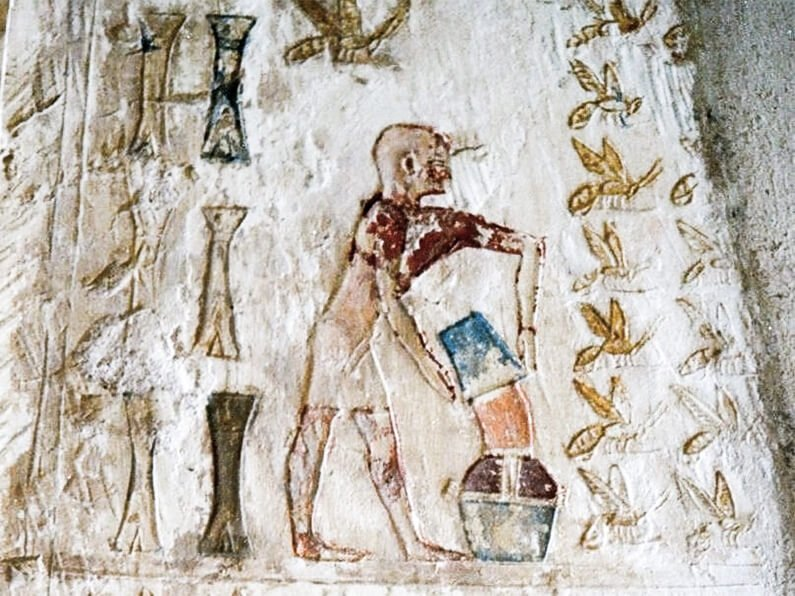 honey in ancient egypt tomb of pabasa