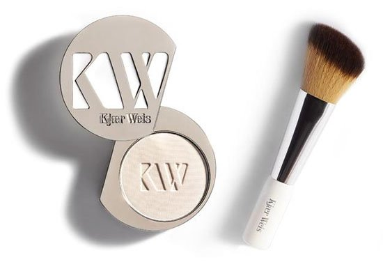 kjaer weis pressed powder and brush