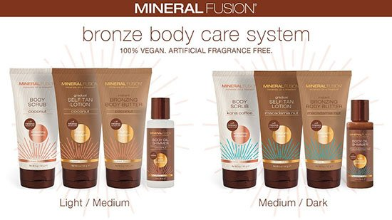 mineral fusion bronze body care
