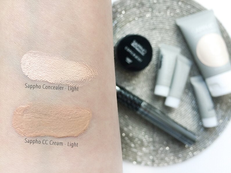 sappho cc cream concealer swatches