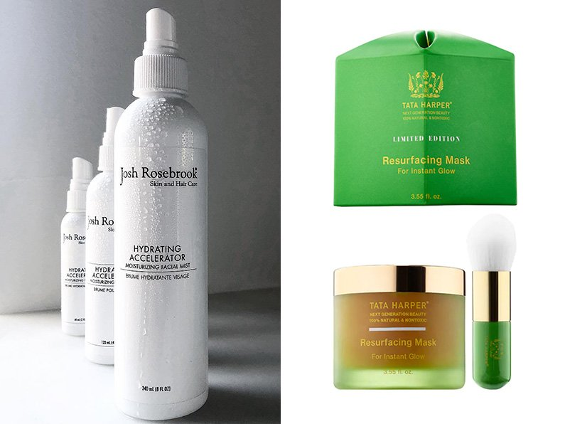 Josh Rosebrook Hydrating Accelerator, Tata Harper Resurfacing Mask