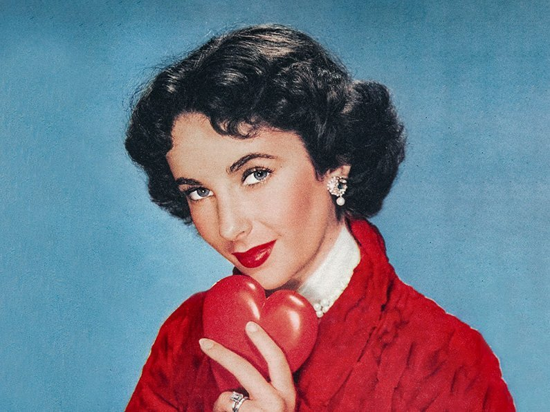 Elizabeth Taylor with heart