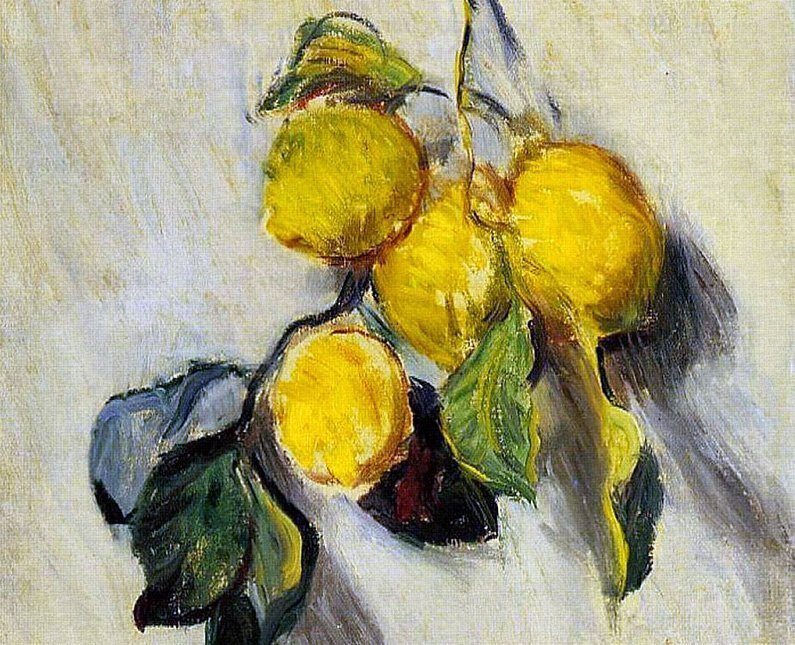 branch of lemons claude monet